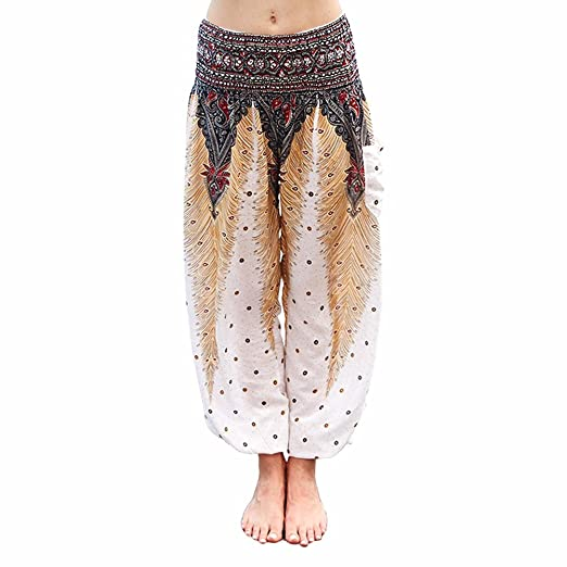 07ac8f0d80a1c COLO Women s Palazzo Pants with Pockets Gypsy Boho Plus Size Baggy Pants  (Waist 24 quot