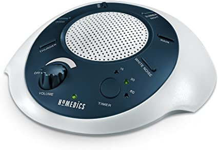 HoMedics Sound Spa Office Portable Sleep Therapy for Home Battery or Adapter Charging Options Auto-Off Timer White Noise Sound Machine 6 Relaxing /& Soothing Nature Sounds Baby /& Travel