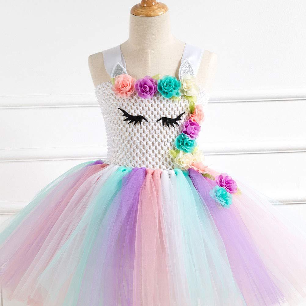 Buy Amosfun Girls Unicorn Costume Rainbow Unicorn Dress Unicorn
