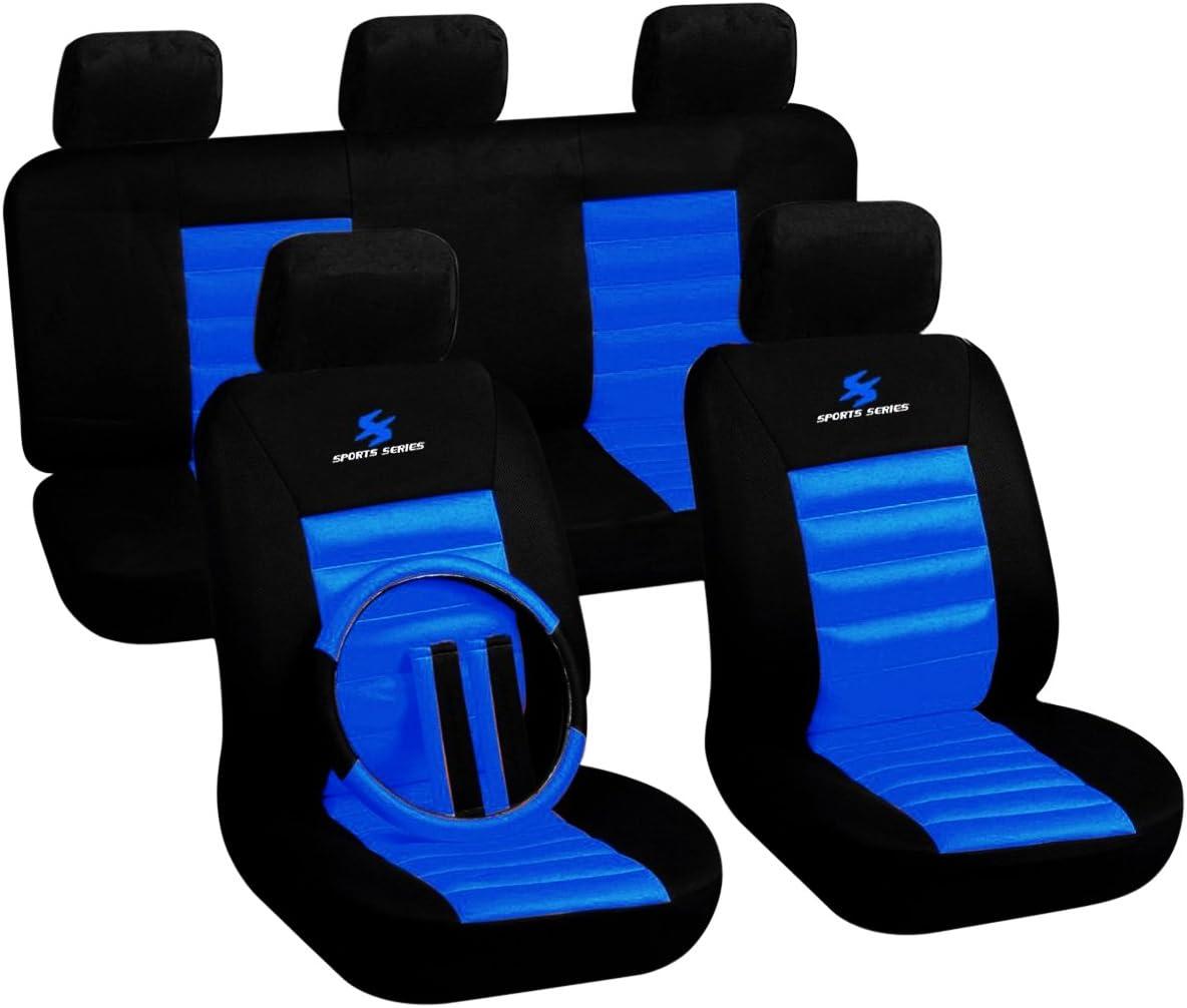 Sitzbezüge blau vorne KOS SKODA ROOMSTER