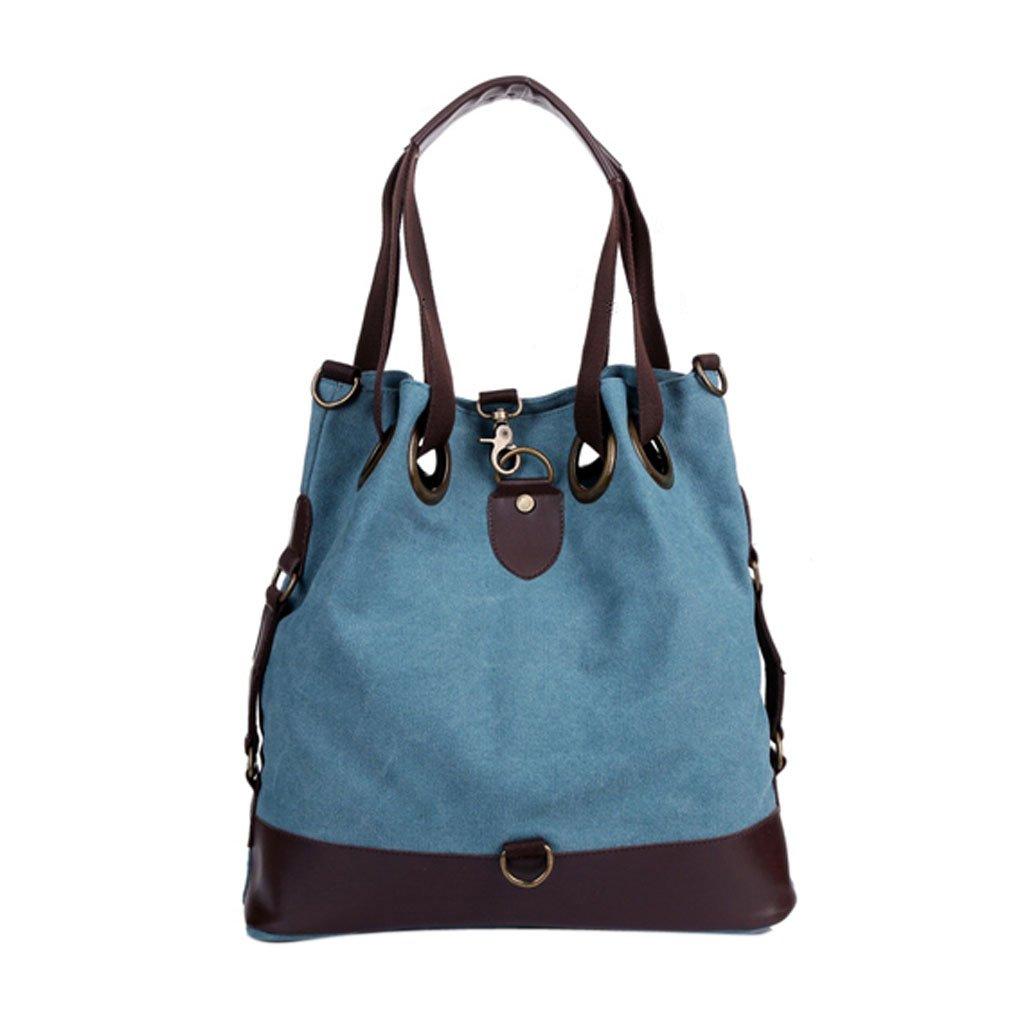FakeFace Womens Large Retro Vintage Literary Women's Stylish & Casual Style Canvas Hobo Everyday Handbag Bucket Shoulder Bag
