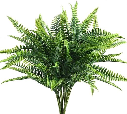 Amazon Com Nahuaa 4pcs Artificial Boston Fern Plants Fake