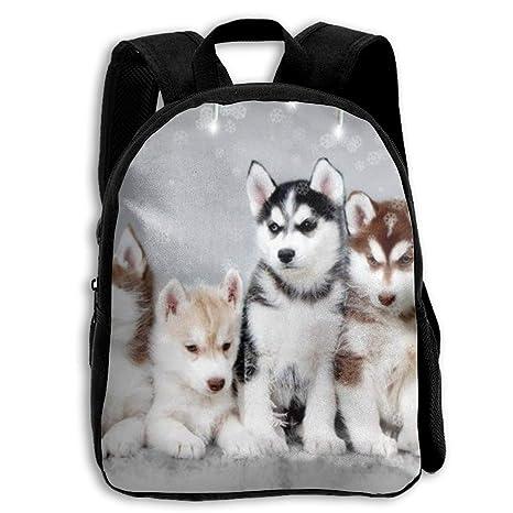 DaXi1 Lovely Huskies - Mochilas Personalizadas para niños con diseño de Hermano