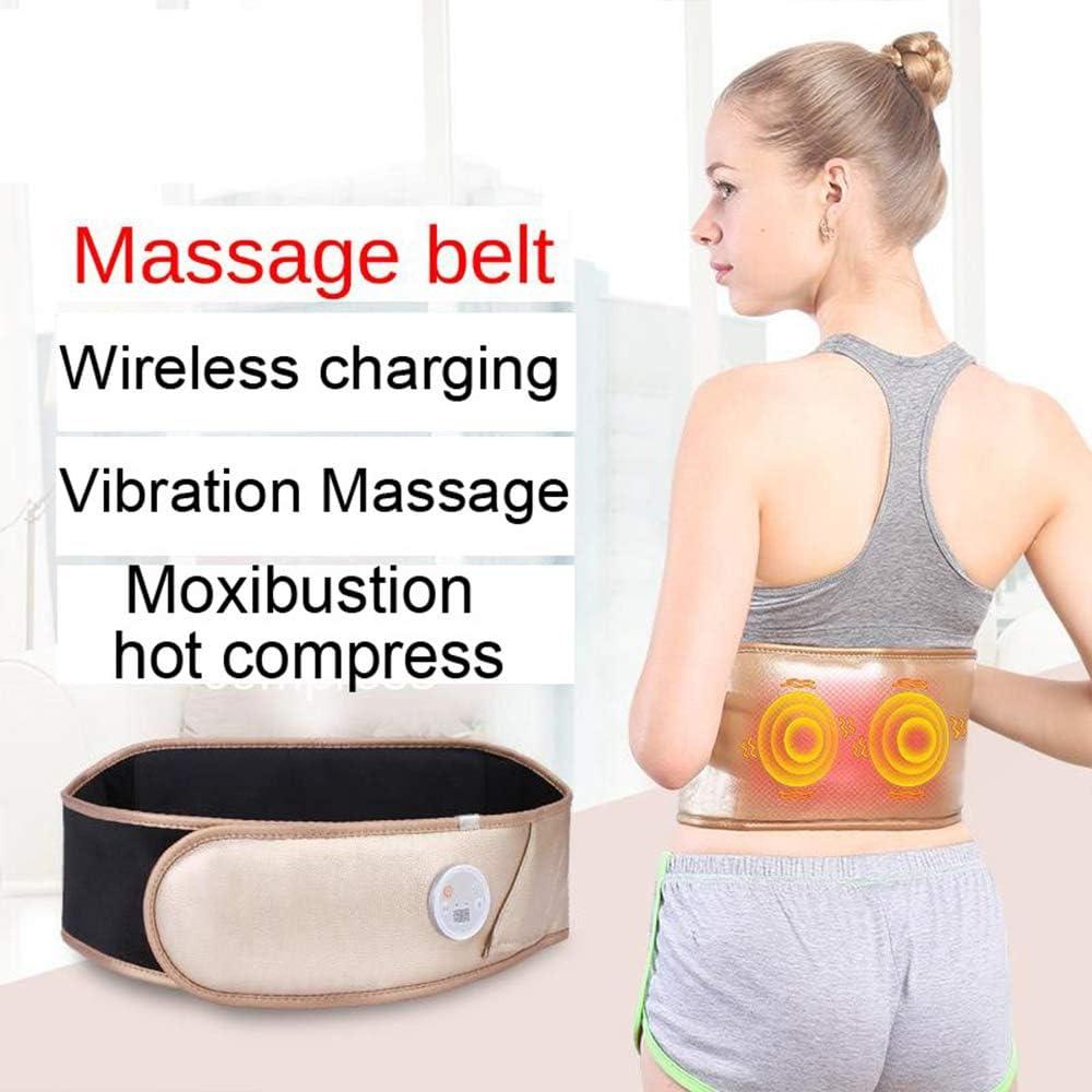 SSLW Electric Slimming Belt,Abdominal Massage Belt, Electric Heating Pads for Pain Relief of Back, Portable Lumbar Heated Belt for Waist Warm Abdomen