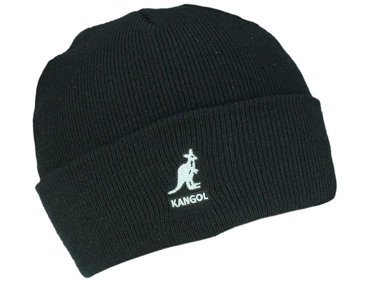 KANGOL Dual-Stripe Beanie Strickmütze Wintermütze Umschlagmütze Damenmütze