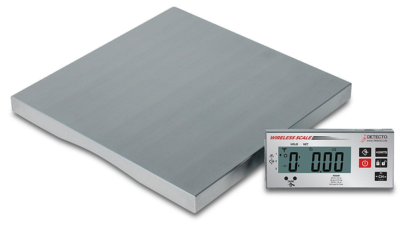 Detecto PZ30W Wireless Ingredient Scale, Includes AC Adapter, 1.6