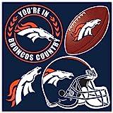 NFL Denver Broncos Denver Broncos 4-Piece Magnet Set, Navy,