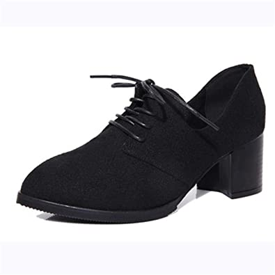 new styles 93a6d 00854 New Spring Woman Shoes Stylish Comfortable Ladies high-Heeled Shoes Pointed  Retro Lace Wild Single