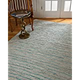 NaturalAreaRugs Beckham Leather Rug, Crafted by Artisan Rug Makers, Imported, 5' x 8'