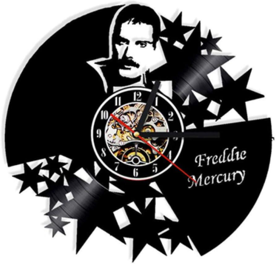 EOXO Horloge Murale Originale Queen Rock Band Horloge Murale Design Moderne Musique Th/ème Classique Vinyle Record Clocks Mur Montre Art D/écor /À La Maison Cadeaux pour Musicien