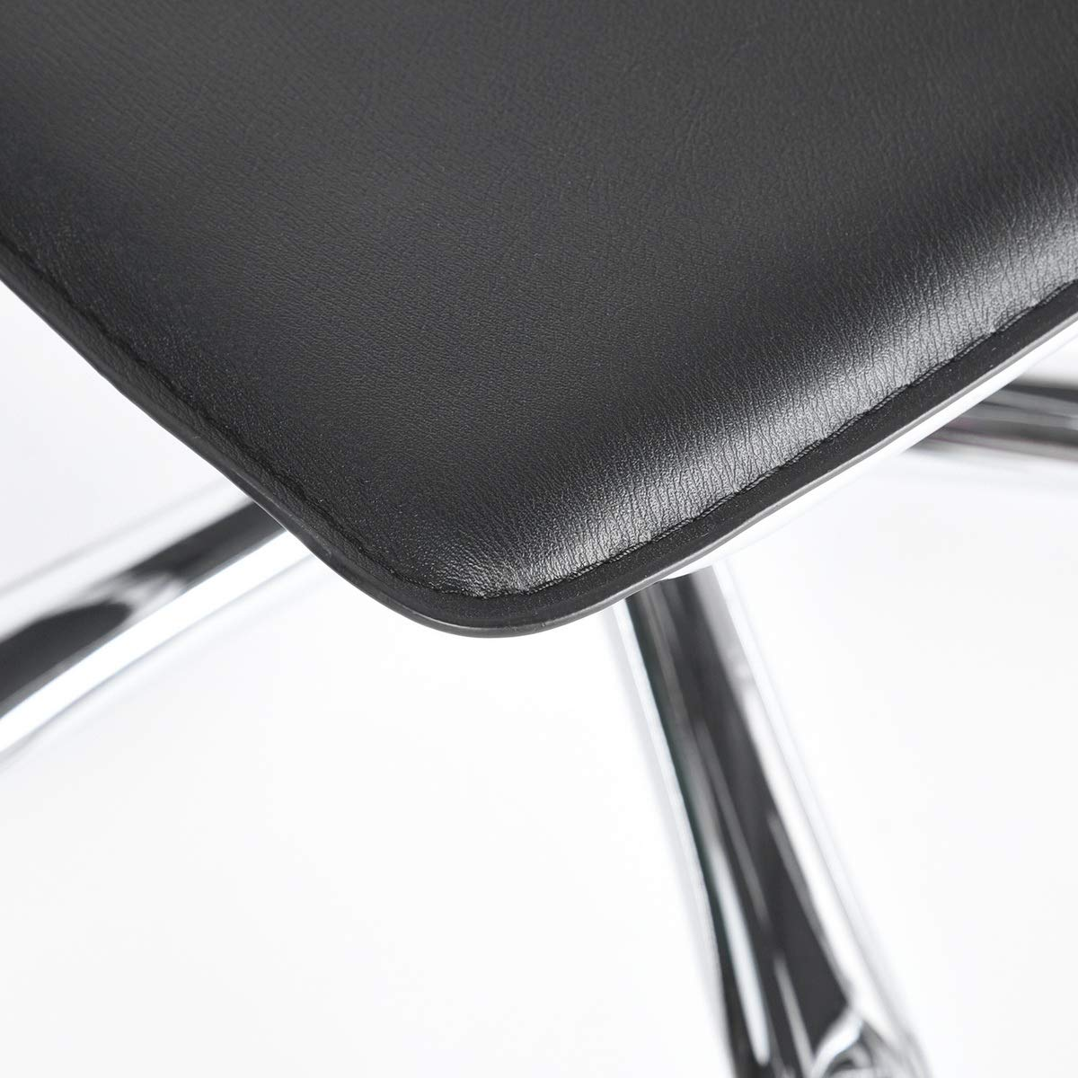 House in Box Computer Desk Chair Mid-Back Ergonomic Office Chairs Work Task Chair Metal Chrome Black