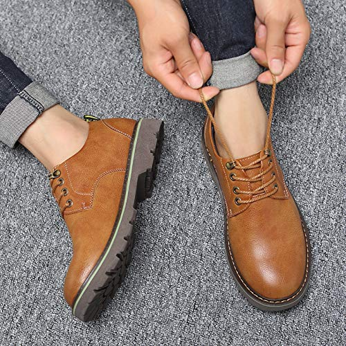 Yellow ZyuQ Ankle boots Autumn Tooling shoes Men'S Men'S shoes Martin Boots Low To Help Casual shoes Thickening shoes