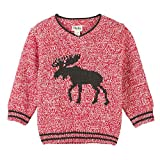 Hatley Baby Boys V-Neck Sweaters, Mouse on red 12-18 Months