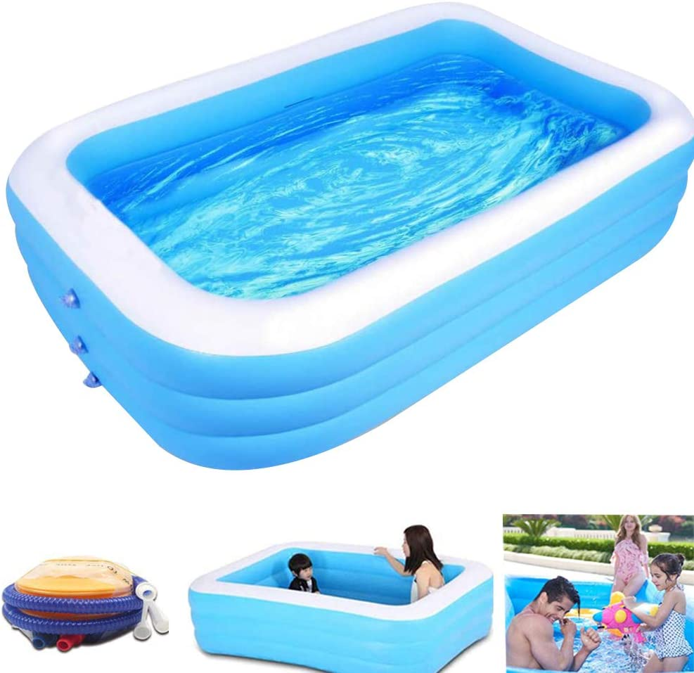 XHSP Inflatable Swimming Pools, Thickened Inflatable Pools,Swimming Pool for Kids Adults, Swim Center Pool,for Outdoor Indoor Garden Backyard (210 cm)