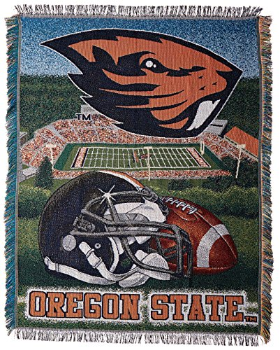 The Northwest Company Officially Licensed NCAA Oregon State Beavers Home Field Advantage Woven Tapestry Throw Blanket, 48