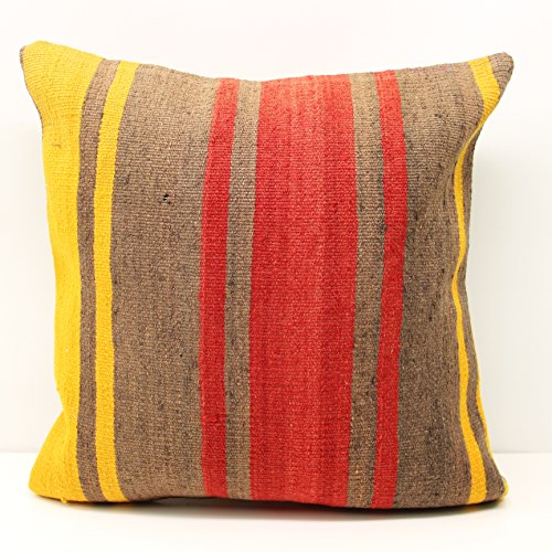 Crochet Pillow cover 20×20 inch (50×50 cm) Rustic Kilim pillow cover Sofa Decor Accent Pillow cover Knitting Kilim Cushion Cover