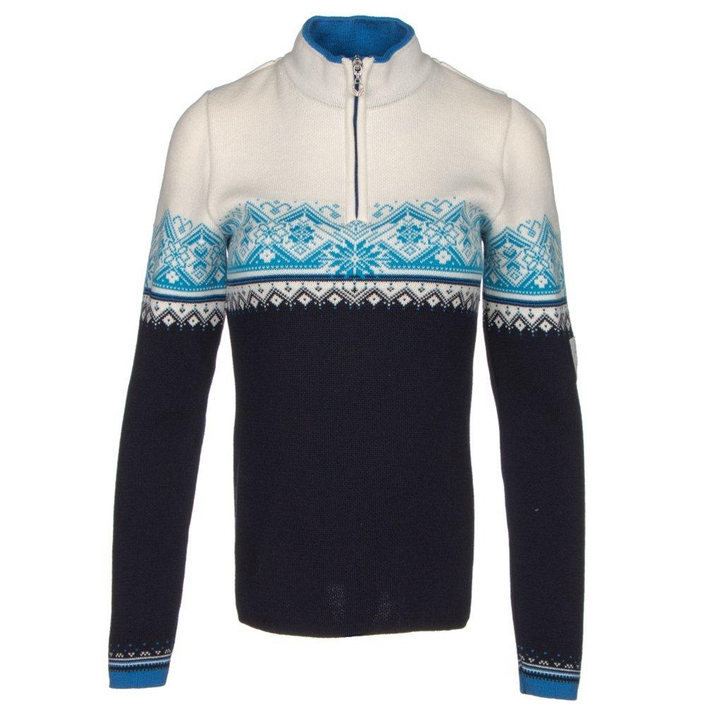 Dale of Norway Women's St. Moritz Feminine Marine/Cobalt/Off White/Sochi Blue Sweater LG (Women's 12-14)