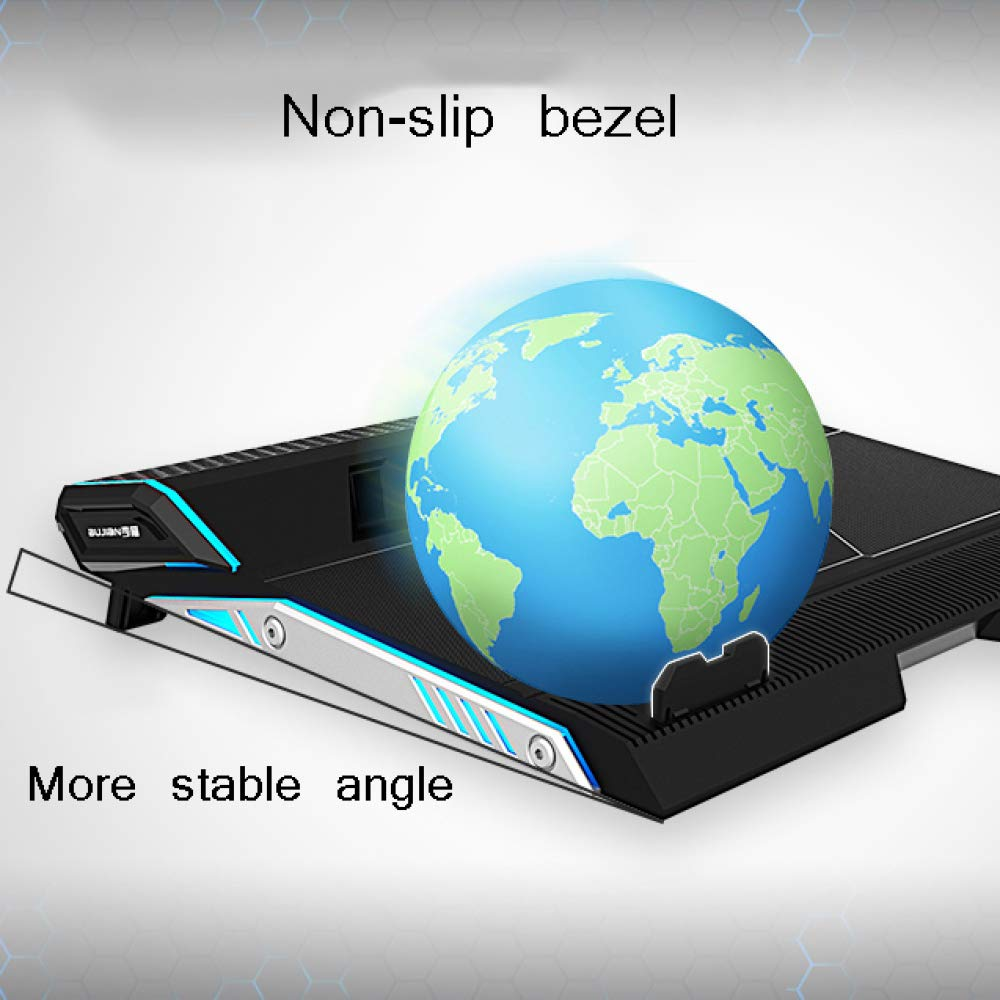 XINWEI PAD Laptop PC Cooler, 12''-17.3'' Ultra Quiet Laptop Cooler Stand with 2 Fans at 2500RPM - LED Lighting by XINWEI PAD (Image #6)
