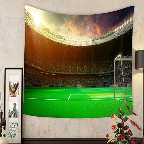 Sherry R. Bennett Custom?tapestry evening stadium arena soccer field by Sherry R. Bennett