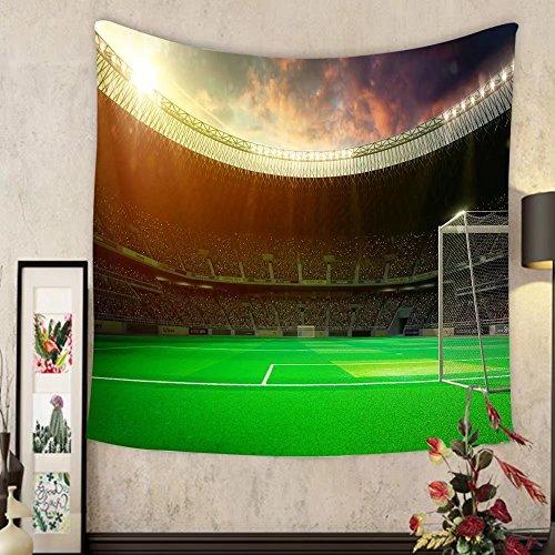 Sherry R. Bennett Custom?tapestry evening stadium arena soccer field by Sherry R. Bennett