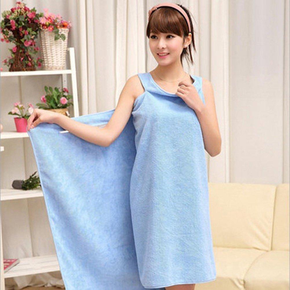 Super Absorbent Microfiber Beach Wearable Body Wrap Spa Bath Towel Skirt Dress
