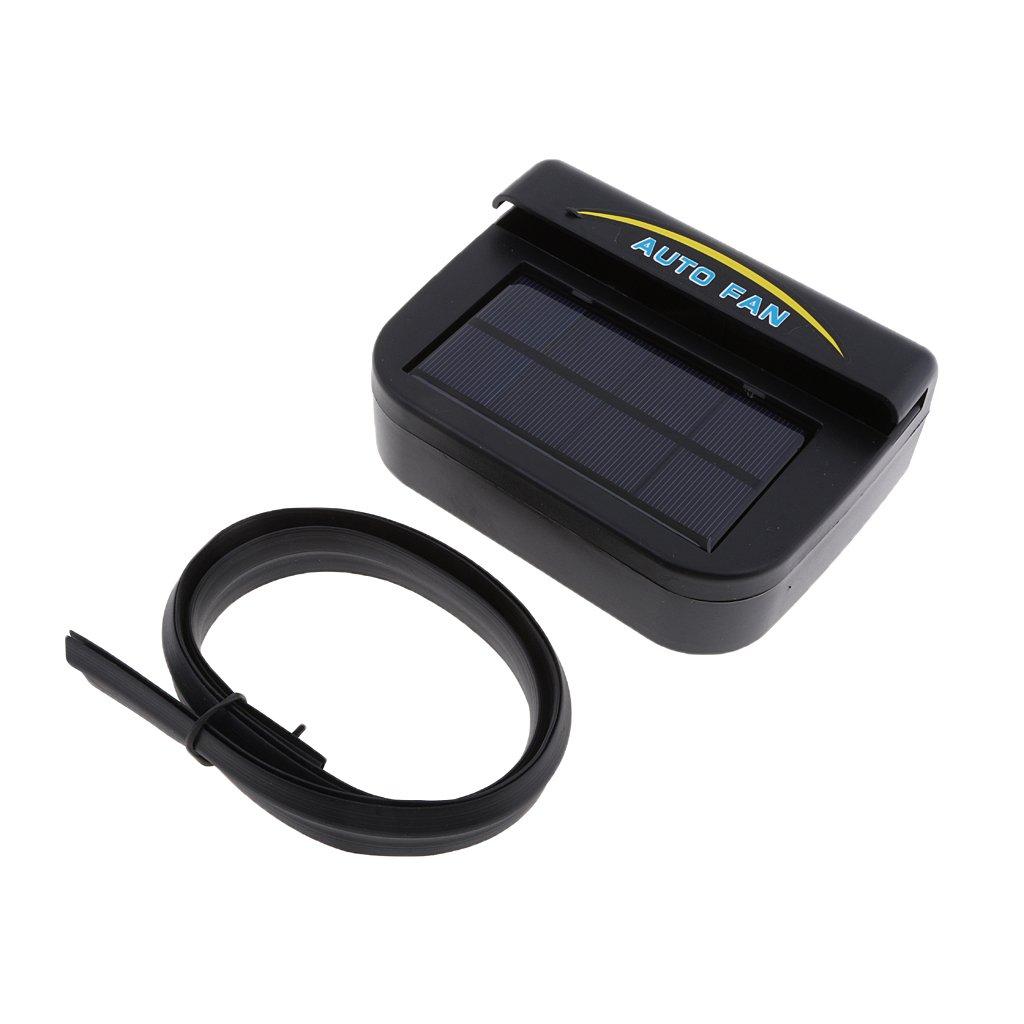 Baoblaze Solar Powered Car Window Windshield Auto Air Vent Cooling Cool Fan Auto Ventilator Cooler System (Auto Vent) Black