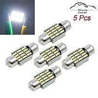 Efoxcity 12V 31mm 1.25'' DE3175 5Pcs Canbus Error Free LED Bulbs for Interior License Plate Dome Map Door Courtesy Car Light