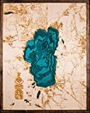 Large. Beautifully Detailed! BLUE Lake Tahoe 3-D Wood Map. 24in x 31in