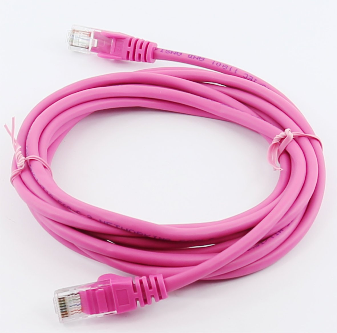 16ft 5in, Pink rhinocables Cat 5e Cat5e Ethernet RJ45 High Speed Network Cable Internet Fast Speed Lead
