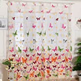 Cheap HP95(TM)Hot! Butterfly Print Window Panel Curtains, Room Divider for Living Room Bedroom Girl 200X100CM