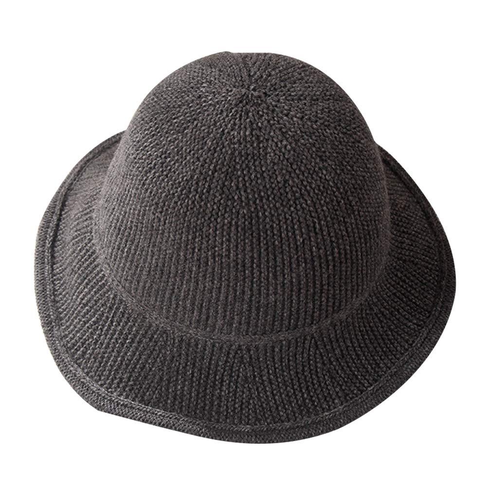 mnoMINI Sombrero de Punto para Mujer, Color Liso, cálido, Parte ...