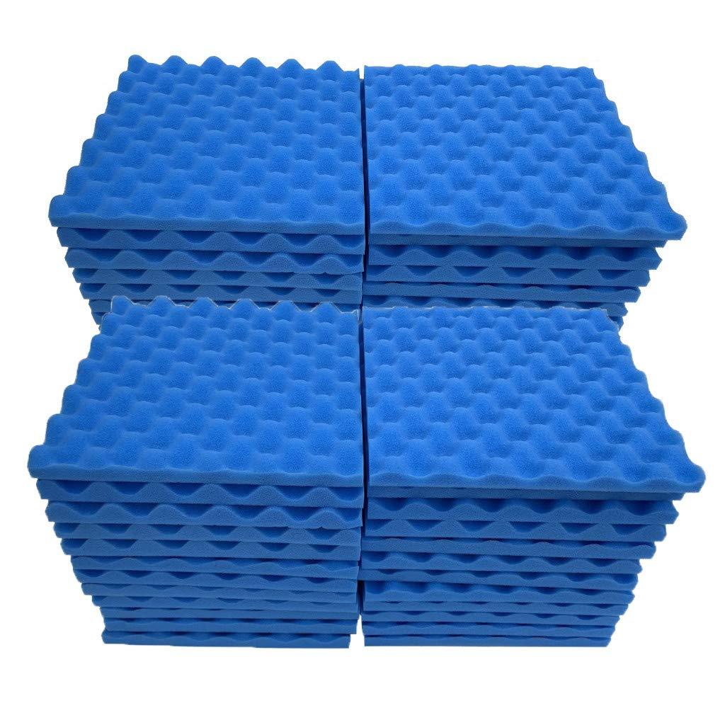 Soundproof Foam, 48Pcs Acoustic Foam Panel Sound Stop Absorption Sponge Studio KTV Soundproof (B)