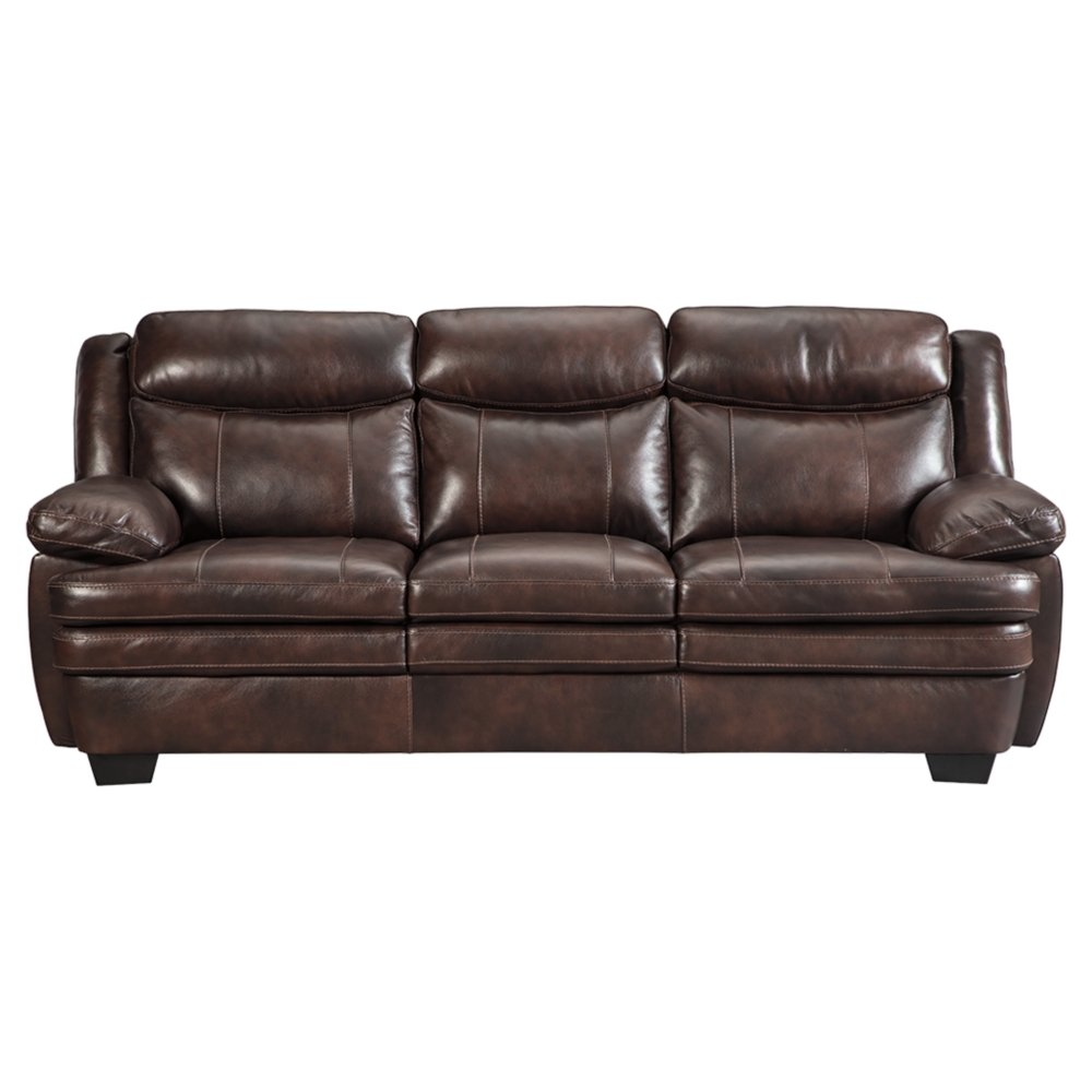 Ashley Hannalore Contemporary Cafe Faux Leather Sofa