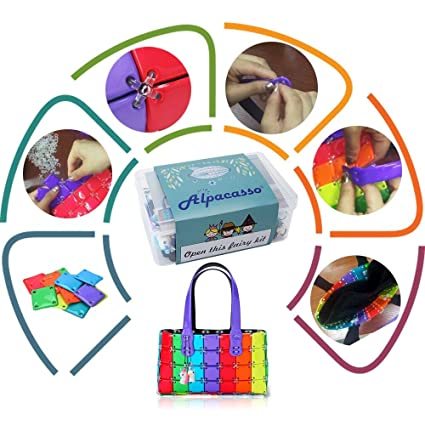 Christmas Gifts For Girls Age 9.Alpacasso Diy Rainbow Handbag Kit For Girls Make Your Own Fashion Purse Best Gifts Idea For Birthday Xmas Christmas Kids Girls Age 5 6 7 8 9 2 Pcs