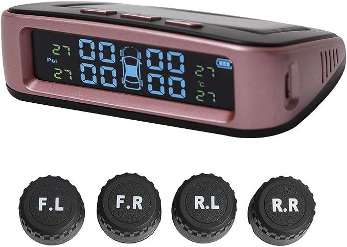 Syst/ème de surveillance de la pression des pneus Voiture TPMS Allume-cigare /Écran LCD avec 4 capteurs externes pour voitures universelles