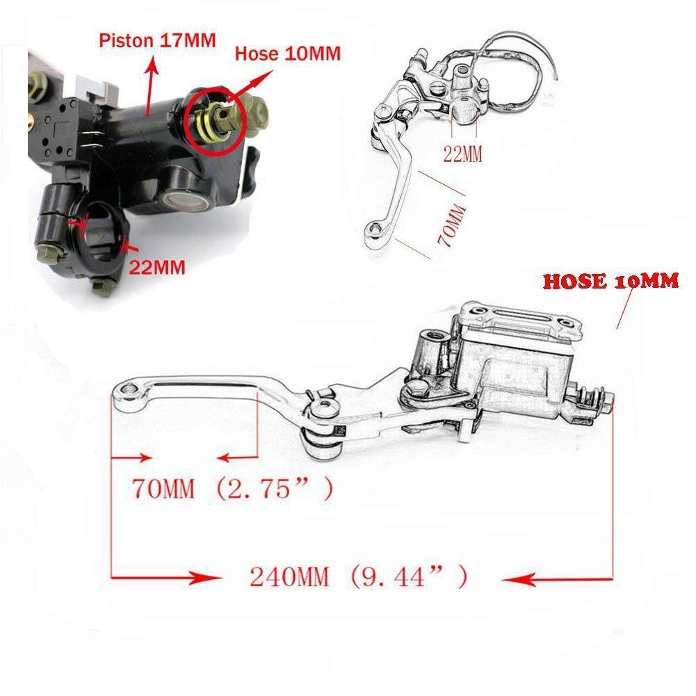Alpha Rider Motorcycle 7 8 22mm Brake Master Cylinder Reservoir Drz110 Wiring Diagram Lever For Suzuki Drz400s Drz400sm 2000 2014 Black Car Motorbike