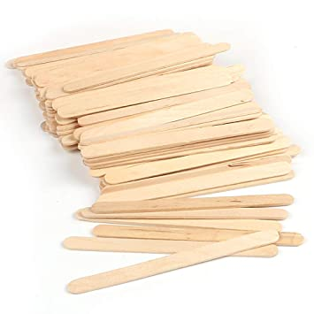 Amazon Com Ice Cream Sticks Set Of 100 Silicone Easy Cream Wooden