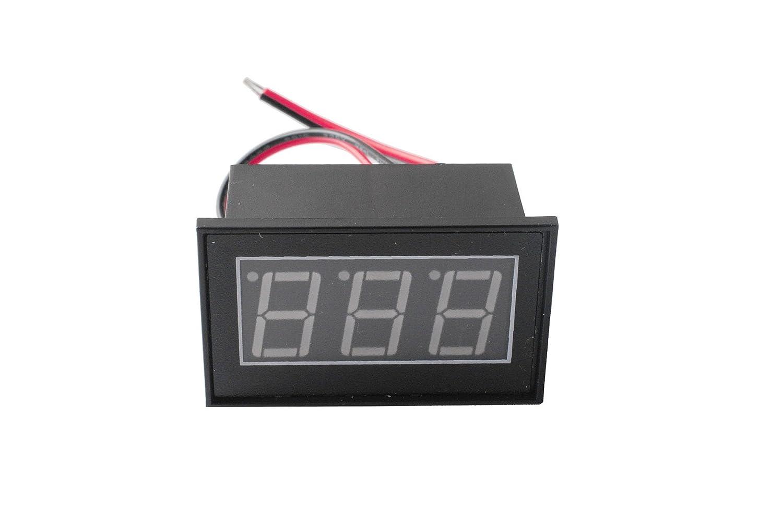 Femitu Waterproof Voltmeter Monitor DC 4.5-150V 12/24/36/48v Volt Battery Meter Voltage Tester Automative Electric Cars Gauge Small Digital Voltmeter 0.56'led Red