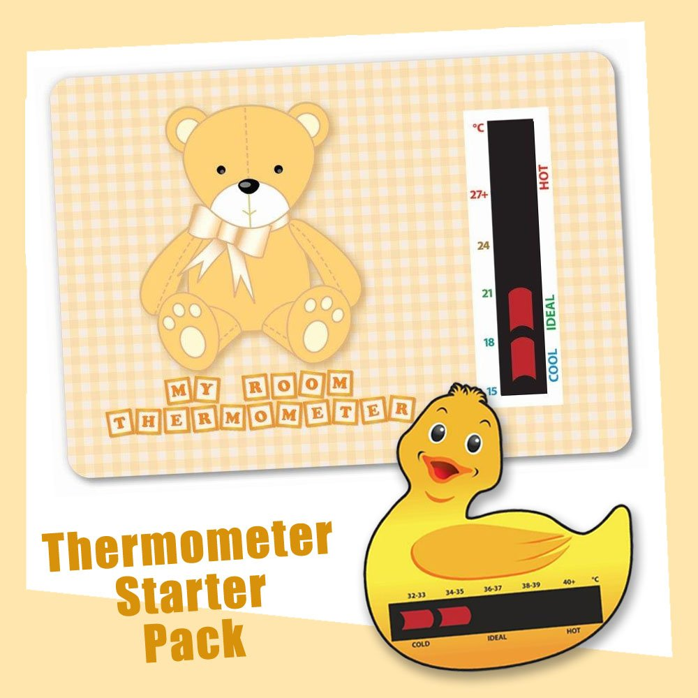 Baby Duck Bath & Brown Bear Nursery Room Thermometer Starter Pack - New Technology Good Life Innovations Ltd