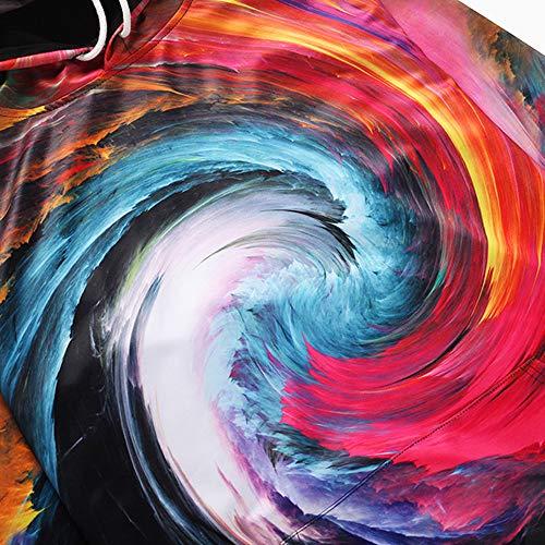 y impresa Sudaderas Sudadera para hombre capucha multicolor Aimee7 Escudo Tops manga 3D larga capucha con con SPwqr8Sx