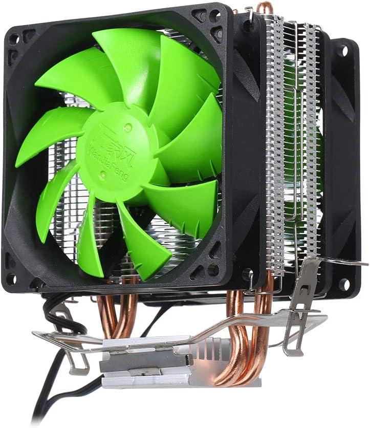Walmeck Hydraulic CPU Cooler Heatpipe Fans Quiet Dual Fan Heatsink Radiator for Intel 2011