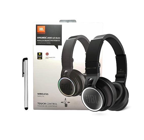 JBL S400BT+ Wireless On Ear Bluetooth Stereo Headphones + Stylus - Black Retail US Pack