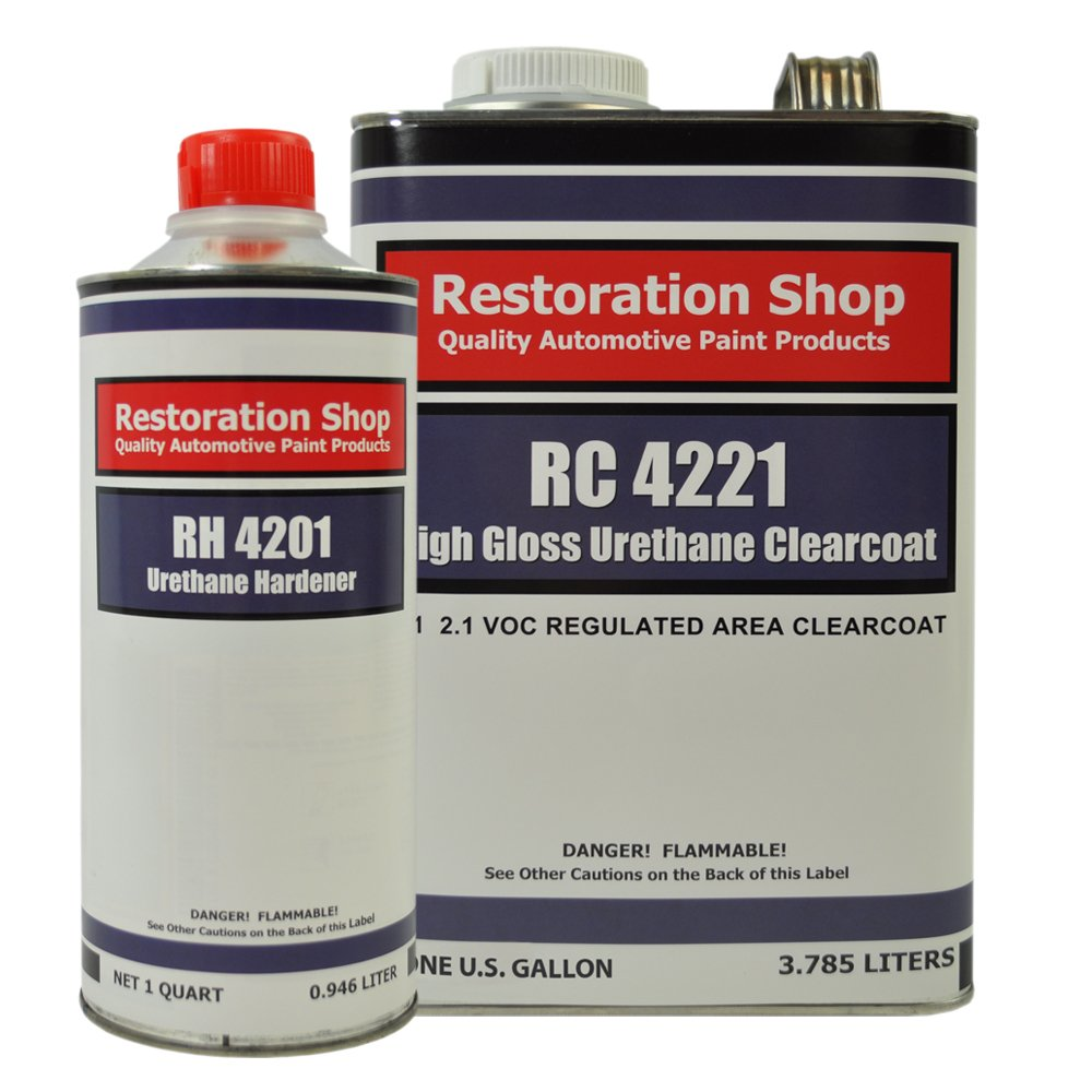 Restoration Shop 2.1 VOC High Gloss Urethane Clear Gallon Kit with Hardener