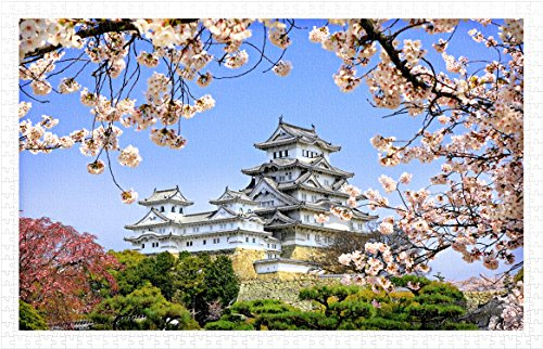 Pintoo - H1436 - Himeji-jo castle in spring cherry blossoms - 1000 Piece Plastic -