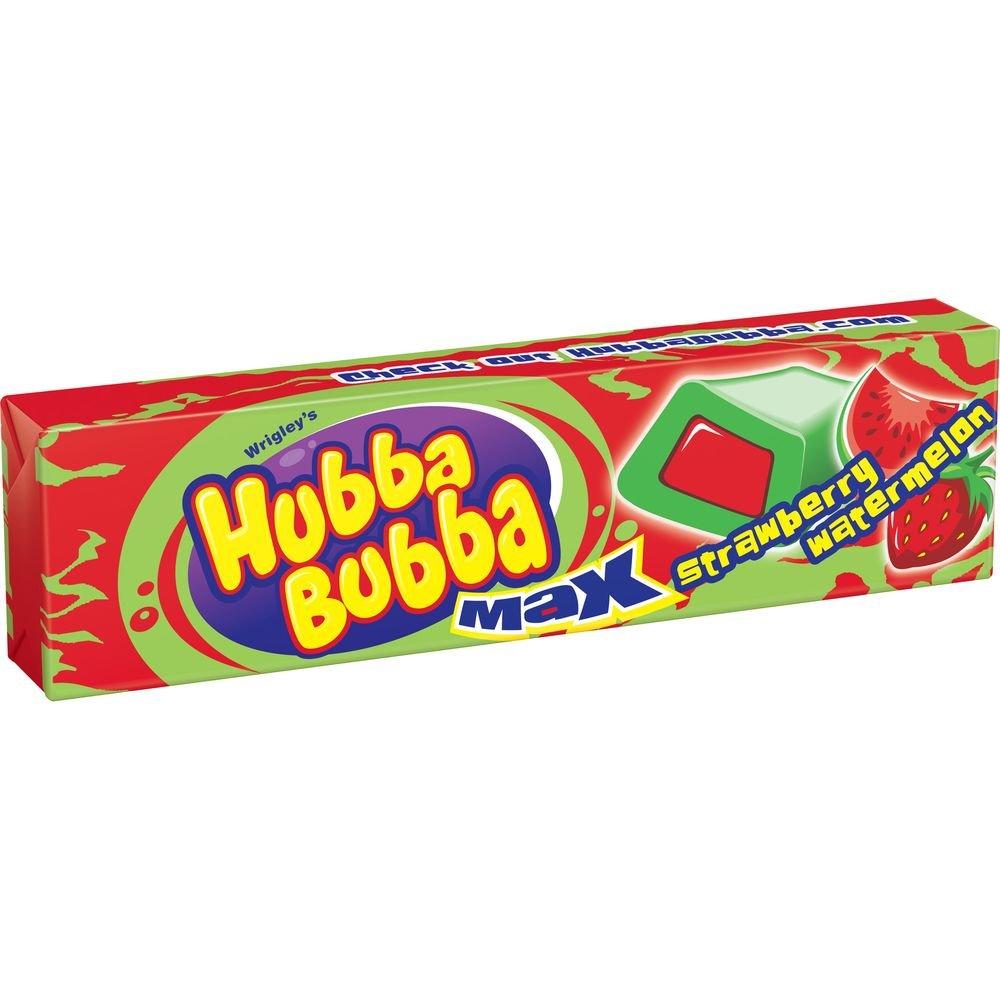 Wrigley Strawberry-Watermelon Hubba Bubba Max Bubble Gum -- 144 per case. by Wrigley's