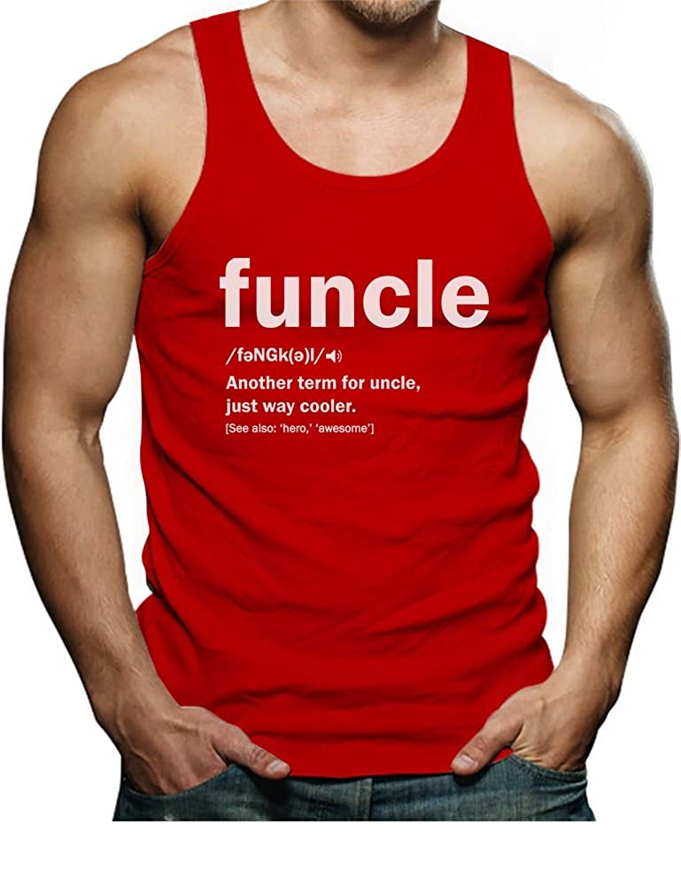 TeeStars - Funny Uncle Funcle Definition Gift for Uncles Singlet GMPl0ZPgd