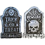 Halloween Yard Decoration Headstone Fake Tombstone Pack of 2