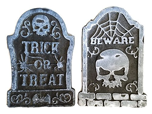 (Halloween Yard Decoration Headstone Fake Tombstone Pack of)
