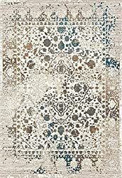 Persian-Rugs 6495 Cream 8x10 Distressed Area Rug Carpet Large New