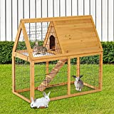 Generic Coop Ha Cage Chicken en Coop Animal Bunny e Chicken 2-tier Wooden